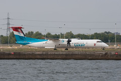 LX-LGN City 29/09/2013 (86501) Tags: city london dash luxembourg dash8 bombardier luxair q400 lcy lxlgn