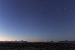Desert stars (jpstanley) Tags: blue sky stars twilight desert orion canismajor fairfield milkyway