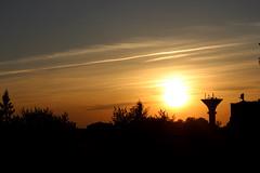 Grobiņas Vakars (Kristers Reinis) Tags: sunset sky contrast watertower latvija