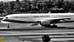 ..bandit in the high noon.. (Ferry Octavian) Tags: canon eos 750d rebel t6i dslr landscape color colour 55250 street shot travel trip noflash handheld explore outdoor efs is isii monochrome mono bw black white grey greyscale blackandwhite plane aircraft airplane aviation spot jet airline transport commercial jumbo wide bandara airport taxi pan panning movement motion streak action trail light jakarta indonesia dki java southeast asia sea cengkareng soetta banten cgk wiii shia tangerang rwy07l hotel room view topotel landside airbus a350 a359 a350900
