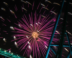 Star Burst at Wonderland (b.m.a.n.) Tags: ca ontario canada fireworks wonderland vaughan canadaswonderland rollercoasters victoriaday victoriadayfireworks sonyalphaslta77m2