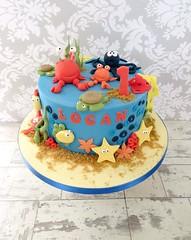 Deep Sea Birthday Cake (A Cherry On Top Scotland) Tags: fish cake sand starfish fife turtle crab sealife birthdaycake octopus deepsea cherryontop celebratorycake clairesara acherryontopscotland