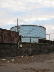 Battersea - Two sections left (socarra) Tags: industry demolition gas battersea gasometer gasholder batterseaholderstation