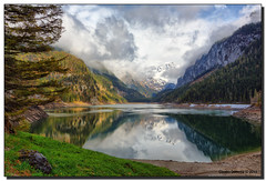 Gosausee in Spring (Fraggle Red) Tags: lake mountains clouds reflections austria evening sterreich bravo dachstein obersterreich hdr gosau upperaustria 7exp vorderergosausee canonef1635mmf28liiusm dphdr gosaulakes canoneos5dmarkiii 5d3 gosauseen 5diii adobephotoshopcs6 adobelightroom5
