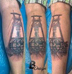 (Lszlo Bdi (LACI) Tattoo & Airbrush Artist) Tags: old man male tattoo club football mine cole 04 fc calf schalke