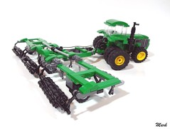 John Deere with Cultivator (Mark of Siloam) Tags: lego john deere tractor mark siloam abs builder challenge