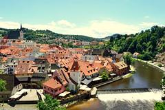 esk Krumlov (Czech) (jens_helmecke) Tags: eskkrumlov krumau stadt city moldau flus river wasser water tschechien czech gebude architektur nikon jens helmecke