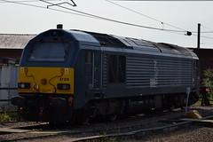 DB Cargo 67010 at Newcastle 13/9/16 (CraigPatrick24) Tags: db dbschenker dbcargo ews caledonian class67 newcastle newcastlecentralstation station railway rail train locomotive transport 67010