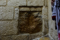 Jesus' hand imprint, near Station V, Via Dolorosa, Old City of Jerusalem (R-Gasman) Tags: travel jesushandimprint nearstationv viadolorosa oldcityofjerusalem israel