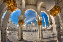 Sheikh Zayed Mosque, Abu Dhabi, UAE (alanfitz99) Tags: mosque uae islam prayer solitude sheikhzayedmosque reflection worship abudhabi szm szgm