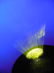 lights in the mist (kenjet) Tags: lerve thedream wynn hotel light lights mist misty lighting blue green shining