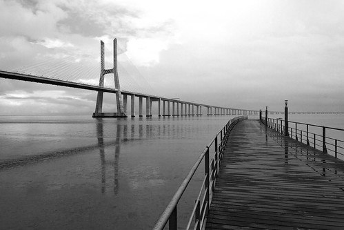 Vasco da Gama bridge, Lisbon Portugal