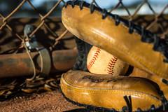 """Catchers Mitt"" (So Fluid) Tags: sunset glove mitt baseball ball sports sportswear pastime fall leather seams texture portrait portraitphotography portraiture closeup canon canonrebel t5i sigma park color warm sofluid gear 50mm"