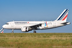 [CDG] Air France 'Olymic Games 2024' Airbus A319 (Timothe Savour) Tags: air france jo 2024 olymic games fgrxl airbus a319