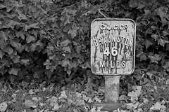 6157. 46 Mile mark (Di's Eyes) Tags: milestone marker odc