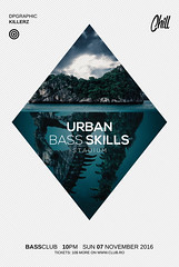 Urban Bass Skills Poster Template (DesignerwooArt) Tags: 300dpi 3d abstract advertising alien alternative artwork bass broken city cmyk design dj dope download drum electro event fest festival flyer free future futuristic galaxies galaxy geometry high hiphop house invitation man manipulation minimal minimalist minimalistic modern music party photoshop poster print psd rap rock sky smoke sound sounds space tech techno template trap triangle triangles trippy universe urban dubstep geometrix art hipster robot