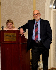 Rich Barbour introduced his old friend, award recipient Wally Grummun