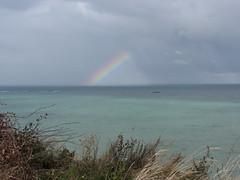 IMG_5903 (dianangelah) Tags: normandie normandy france frankreich regenbogen arcenciel rainbow meer sea mer landschaft landscape wolken clouds cloud arromanches gold beach mulberryb mulberry