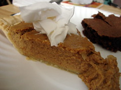 Pumpkin Pie. (dccradio) Tags: lumberton nc northcarolina robesoncounty food eat pie pumpkinpie dessert sweet treat whippedcream whippedtopping coolwhip pieslice brownie