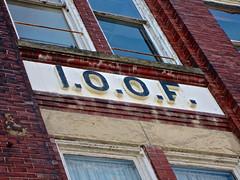 I.O.O.F. Building, Cambridge, OH (Robby Virus) Tags: cambridge ohio odd fellows building ioof lodge temple architecture pavlov music center sign signage caduceus dentist historic