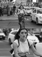 [La Mia Citt][Pedala] (Urca) Tags: milano italia 2016 bicicletta pedalare ciclista ritrattostradale portrait dittico nikondigitale mir bike bicycle biancoenero blackandwhite bn bw 907129