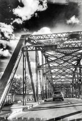 (Melissa_JMH) Tags: bridge outside outdoors oregon washington nikon d610 nikond610 drive driving cross car sky bw blackandwhite lg g3 lgg3 phone