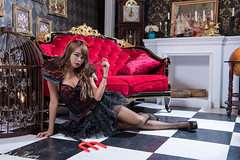 DSC_7500 (Robin Huang 35) Tags: 孫卉彤 candy miruna萬聖風 小惡魔 吸血鬼 vampire 萬聖節 halloween 棚拍 lady girl d810 nikon devil