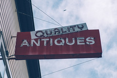 Quality Antiques (Jeremy Brooks) Tags: antiques california fortuna humboldtcounty neon usa camera:make=fuji camera:make=fujifilm camera:model=xpro1