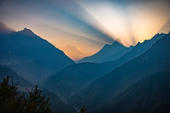 Himalayan sunrise, Khumbu, Everest Region, Nepal (CamelKW) Tags: 2016 everestpanoram nepal himalayansunrise khumbu everestregion everest lhotse amadablam mountain