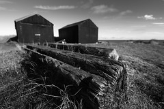 Timber (Photography by Tosh) Tags: d750 eastanglia norfolk coast dunes huts morning nikon outdoors photography sheds uk winterton wintertononsea england unitedkingdom gb monochrome blackandwhite weathered timber texture