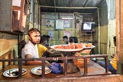 X106_4597 (bandashing) Tags: night nightlife littlelondon airport shops restaurant cafe shopkeepers people housing sylhet manchester england bangladesh bandashing dark street socialdocumentary aoa akhtarowaisahmed