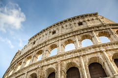 Beauty (Anna Andreea) Tags: rome roma italy italia lovely beauty collosseum colosseum travel traveltheworld lovetotravel holiday architecture sky blue building arch coliseum tower facade outdoor amphiteather