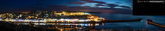 Whitby Panorama (Gaz - (Gareth Hinchliffe Photography)) Tags: sony alpha a77 sonyzeiss2470mm whitby panorama harbour night longexposure sea boat ship northyorkshire lighthouse