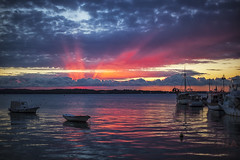 Magic (- Dunja -) Tags: sunset croatia istria faana brijuni sea red clouds sky magic