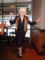 Show-Off! (Laurette Victoria) Tags: suit scarf woman silver laurette milwaukee fridays millerpark