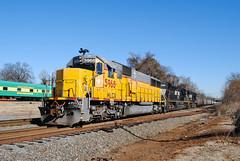 Belmont Coal (ajketh) Tags: ns norfolk southern sd60 750 emd hlcx sd60e rebuild coal train freight railroad k5la belmont nc north carolina piedmont division 5968 2727 sd70m2 6548 watch kanawha river