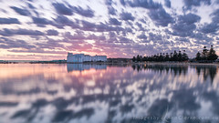 Morning calm (Images by Ann Clarke) Tags: nisifilters nov2016 clouds eyre foreshore ocean pinetrees portlincoln reflections silo southaustralia