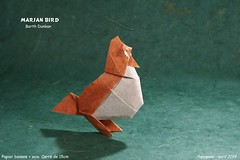 Marjan Bird folded by Luc Marnat aka Papygami (R.I.P) designed by Barth Dunkan (Magic Fingaz) Tags: barthdunkan bird burung chim oiseau origami origamibird pájaro pássaro ptak uccello vogel птица นก 鳥 鸟