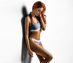 Ruby (Cyjinx) Tags: sport underwear womans beauty red hair ginger girl