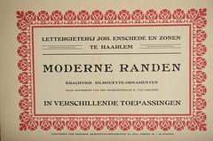 Enschend Specimen - Moderne Randen - 1909 (Rui Type Abreu) Tags: enschend specimen 1909 moderne randen type typography dutch