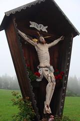 Passione di Cristo  -  Passion of Jesus Christ (Cristina 63) Tags: italy fog europa europe italia christ cross passion crucifix inri cristo nebbia croce altoadige southtyrol goodfriday p