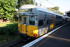 S SET S1 (TRAILING) HEADS SOUTH FROM OATLEY (FlashFlyGuy) Tags: chopper rail australia nsw newsouthwales sets cityrail cset choppertour sydneyelectrictrainsociety choppercontroltractionsystem
