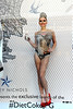 Models are painted to look like Jean Paul Gaultier's Night & Day designs for Diet Coke at Harvey Nichols London, England