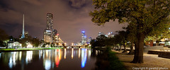 A still autumn evening on the Yarra (garethjl) Tags: panorama reflection tower night river twilight stitch australia melbourne victoria yarra vic cbd stitched eureka melbs birrarung marr