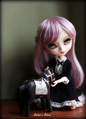 War horse (pure_embers) Tags: uk horse cute girl fashion rose japan sisters dark asian japanese war doll pretty dolls dress lavender planning wig pullip pure jun embers leeke obitsu leekeworld galene lavendarrose cupcakecurio pureembers pullipgalene