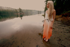 Egle, 2013. sgreina. (Vidy) Tags: trees lake reflection nature girl norway forest angular