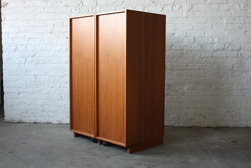 Astonishing Danish Mid Century Modern Expandable Teak Cabinet Desk (Denmark, 1970s)