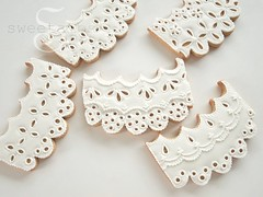 Eyelet Lace Cookies (SweetAmbsCookies) Tags: wedding white ice cookies frost cookie sweet lace royal sugar glaze butter icing iced how decorate ams tutorial frosting frosted decorated eyelet amb ambs