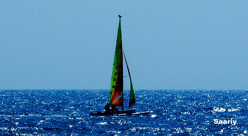 Sailing at  inviting mediterranean water