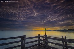 Cloud formation (peyete | photography) Tags: longexposure bridge sunrise indonesia nikon jakarta le nd ancol gnd d7000